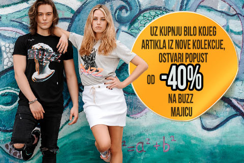 Kako do 40% popusta na nove BUZZ majice?