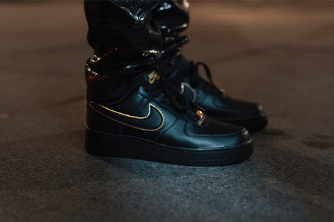 Nike Air Force 1 Black x Gold collection