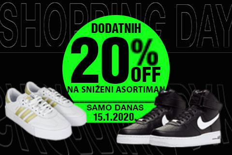 BUZZ shopping day -20% na već sniženo