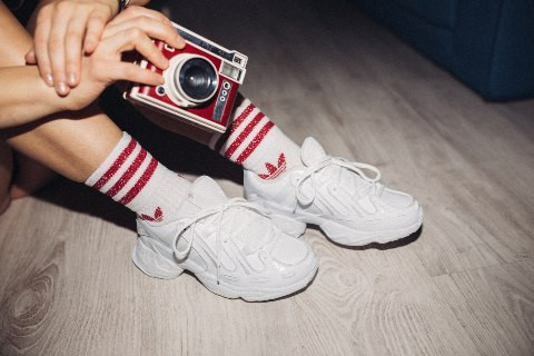 GO FROM DAY TO NIGHT WEARING ADIDAS EQT GAZELLE SNEAKERS