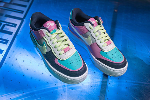 "FEEL THE VIBE OF NIKE AIR FORCE 1 SHADOW ""MULTI-COLOR"""