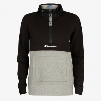ODJECA-DUKS-HALF ZIP HOODED SWEATSHIRT