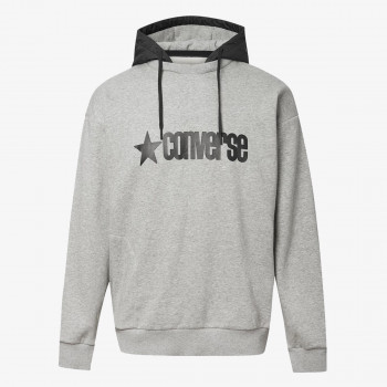 CONVERSE Dukserica CONVERSE REMOVEABLE HOODED CREW
