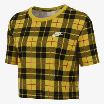 NIKE Majica W NSW TEE FUTURA PLAID CROP