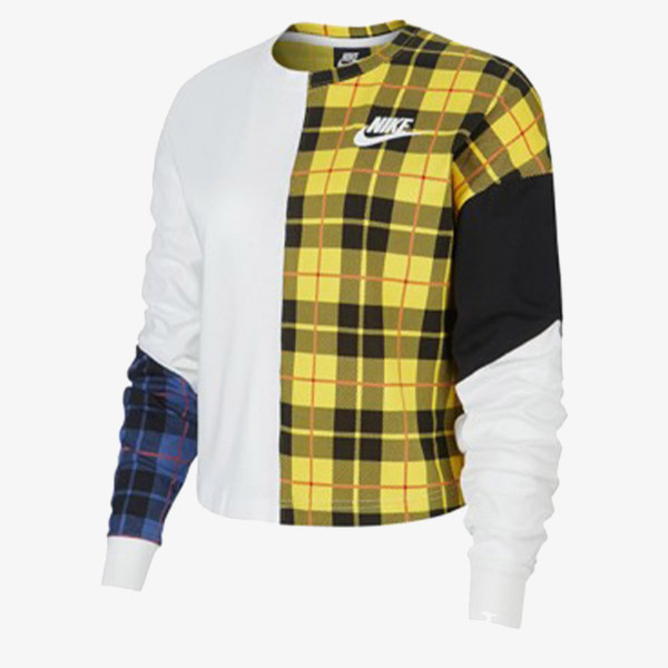 NIKE Majica dugih rukava W NSW TOP LS PLAID