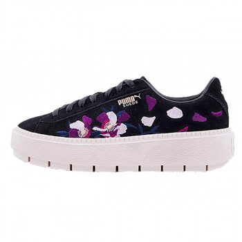 SUEDE PLATFORM TRACE FLOWERY