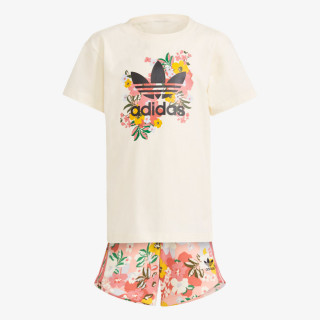 adidas Set HER STUDIO LONDON FLORAL SHORTS AND TEE SET
