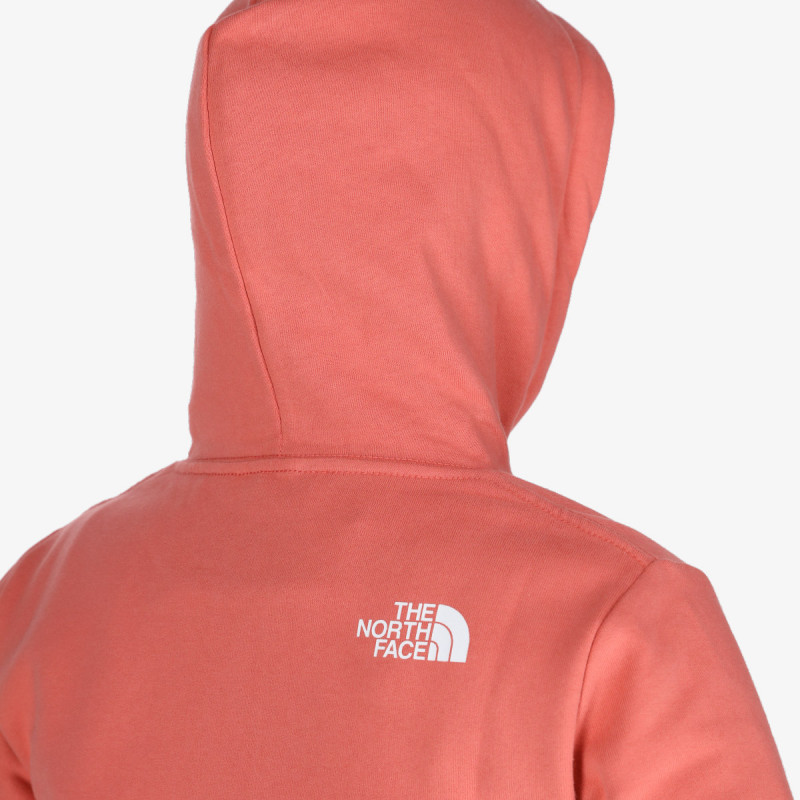 THE NORTH FACE Dukserica W STANDARD HD FADED ROSE